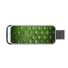 Circle Square Green Stone Portable Usb Flash (one Side)