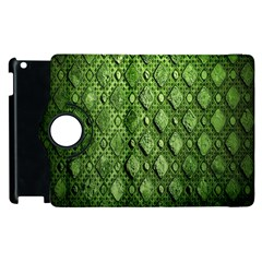 Circle Square Green Stone Apple Ipad 3/4 Flip 360 Case by Alisyart