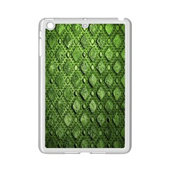 Circle Square Green Stone Ipad Mini 2 Enamel Coated Cases