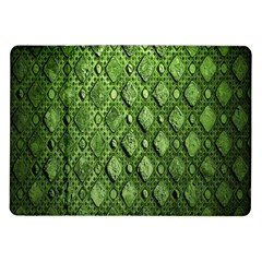 Circle Square Green Stone Samsung Galaxy Tab 10 1  P7500 Flip Case