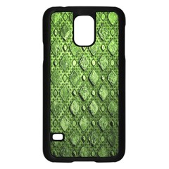 Circle Square Green Stone Samsung Galaxy S5 Case (black) by Alisyart