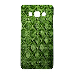 Circle Square Green Stone Samsung Galaxy A5 Hardshell Case  by Alisyart