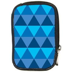 Geometric Chevron Blue Triangle Compact Camera Cases by Alisyart