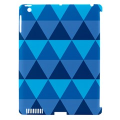Geometric Chevron Blue Triangle Apple Ipad 3/4 Hardshell Case (compatible With Smart Cover) by Alisyart