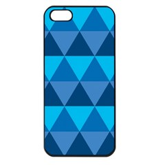 Geometric Chevron Blue Triangle Apple Iphone 5 Seamless Case (black)