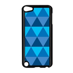 Geometric Chevron Blue Triangle Apple Ipod Touch 5 Case (black) by Alisyart