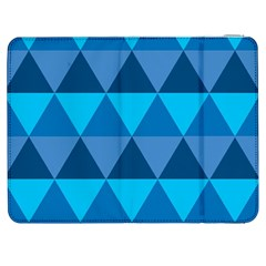 Geometric Chevron Blue Triangle Samsung Galaxy Tab 7  P1000 Flip Case