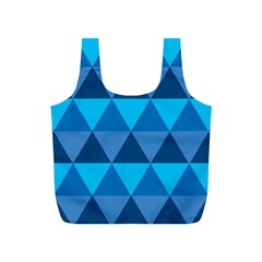 Geometric Chevron Blue Triangle Full Print Recycle Bags (s)