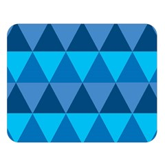 Geometric Chevron Blue Triangle Double Sided Flano Blanket (large)  by Alisyart