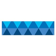 Geometric Chevron Blue Triangle Satin Scarf (oblong)