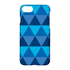 Geometric Chevron Blue Triangle Apple Iphone 7 Hardshell Case