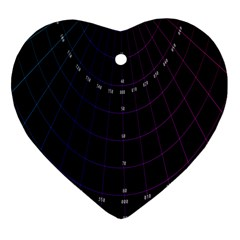 Formula Number Line Purple Natural Ornament (heart)