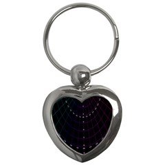 Formula Number Line Purple Natural Key Chains (heart)