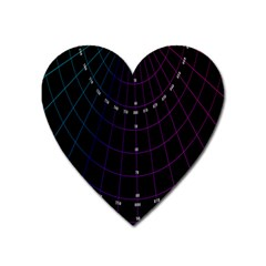 Formula Number Line Purple Natural Heart Magnet by Alisyart