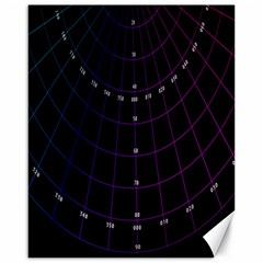 Formula Number Line Purple Natural Canvas 16  X 20   by Alisyart