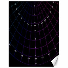 Formula Number Line Purple Natural Canvas 18  X 24   by Alisyart