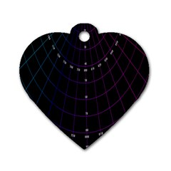 Formula Number Line Purple Natural Dog Tag Heart (two Sides)