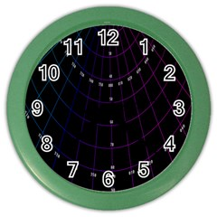 Formula Number Line Purple Natural Color Wall Clocks by Alisyart