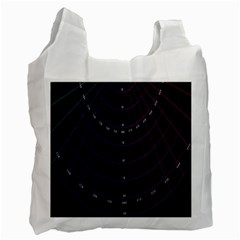 Formula Number Line Purple Natural Recycle Bag (one Side)