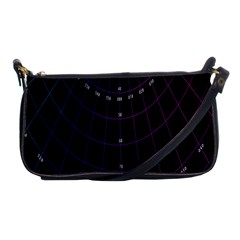 Formula Number Line Purple Natural Shoulder Clutch Bags by Alisyart