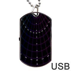 Formula Number Line Purple Natural Dog Tag Usb Flash (one Side)