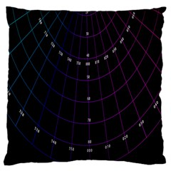 Formula Number Line Purple Natural Large Cushion Case (one Side) by Alisyart