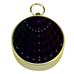 Formula Number Line Purple Natural Gold Compasses by Alisyart