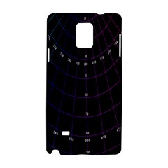 Formula Number Line Purple Natural Samsung Galaxy Note 4 Hardshell Case by Alisyart