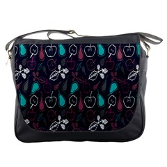Fruit Pear Apple Purple Pink Blue Messenger Bags by Alisyart