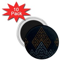 Geometric Triangle Grey Gold 1 75  Magnets (10 Pack)