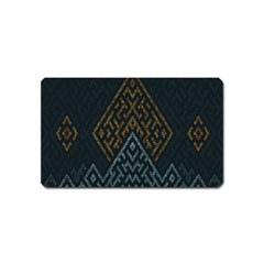 Geometric Triangle Grey Gold Magnet (name Card)