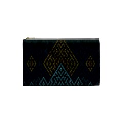 Geometric Triangle Grey Gold Cosmetic Bag (small)