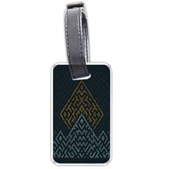 Geometric Triangle Grey Gold Luggage Tags (two Sides) by Alisyart