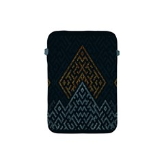 Geometric Triangle Grey Gold Apple Ipad Mini Protective Soft Cases by Alisyart