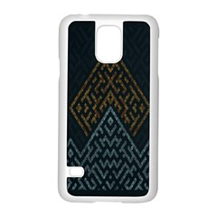 Geometric Triangle Grey Gold Samsung Galaxy S5 Case (white)