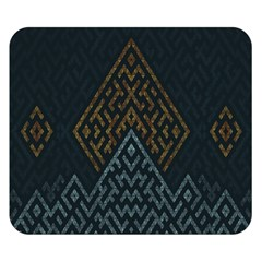 Geometric Triangle Grey Gold Double Sided Flano Blanket (small)  by Alisyart