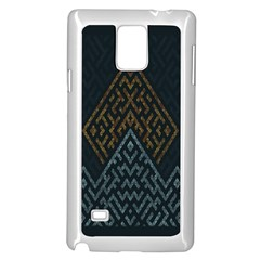Geometric Triangle Grey Gold Samsung Galaxy Note 4 Case (white)
