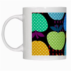 Fruit Apples Color Rainbow Green Blue Yellow Orange White Mugs