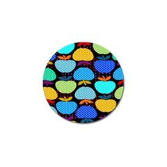 Fruit Apples Color Rainbow Green Blue Yellow Orange Golf Ball Marker (10 Pack) by Alisyart