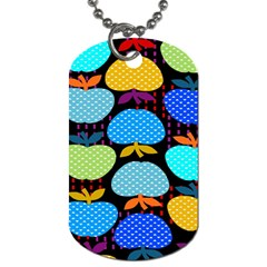 Fruit Apples Color Rainbow Green Blue Yellow Orange Dog Tag (two Sides)