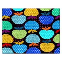 Fruit Apples Color Rainbow Green Blue Yellow Orange Rectangular Jigsaw Puzzl