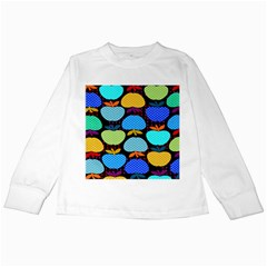 Fruit Apples Color Rainbow Green Blue Yellow Orange Kids Long Sleeve T Shirts by Alisyart