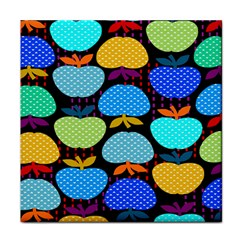 Fruit Apples Color Rainbow Green Blue Yellow Orange Face Towel by Alisyart