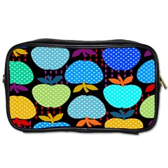 Fruit Apples Color Rainbow Green Blue Yellow Orange Toiletries Bags