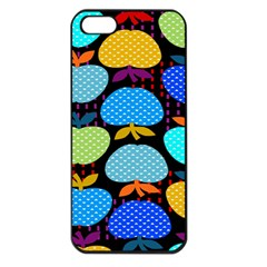Fruit Apples Color Rainbow Green Blue Yellow Orange Apple Iphone 5 Seamless Case (black)