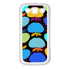 Fruit Apples Color Rainbow Green Blue Yellow Orange Samsung Galaxy S3 Back Case (white)
