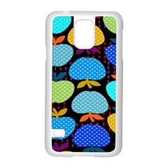 Fruit Apples Color Rainbow Green Blue Yellow Orange Samsung Galaxy S5 Case (white)