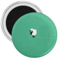 Goat Sheep Green White Animals 3  Magnets