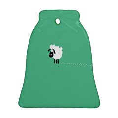 Goat Sheep Green White Animals Bell Ornament (two Sides)