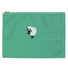 Goat Sheep Green White Animals Cosmetic Bag (xxl)  by Alisyart